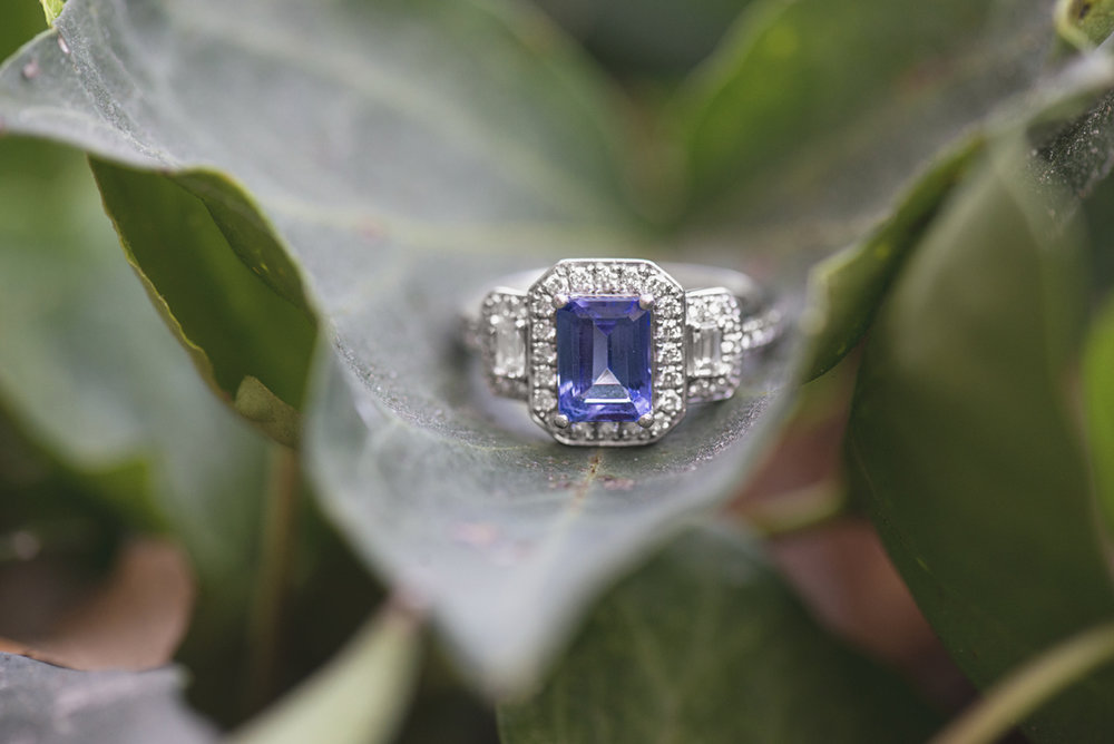 Blue Tanzanite Engagement Ring