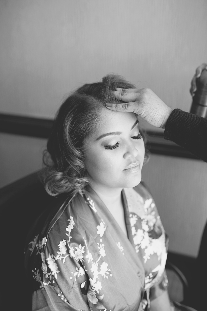 Blue and Silver Waterside Wedding | Virginia Beach Wedding | Bridesmaids getting ready