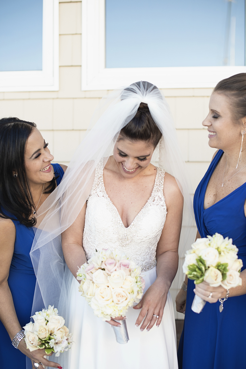 Blue and Silver Waterside Wedding | Virginia Beach Wedding | Royal blue bridesmaid dresses