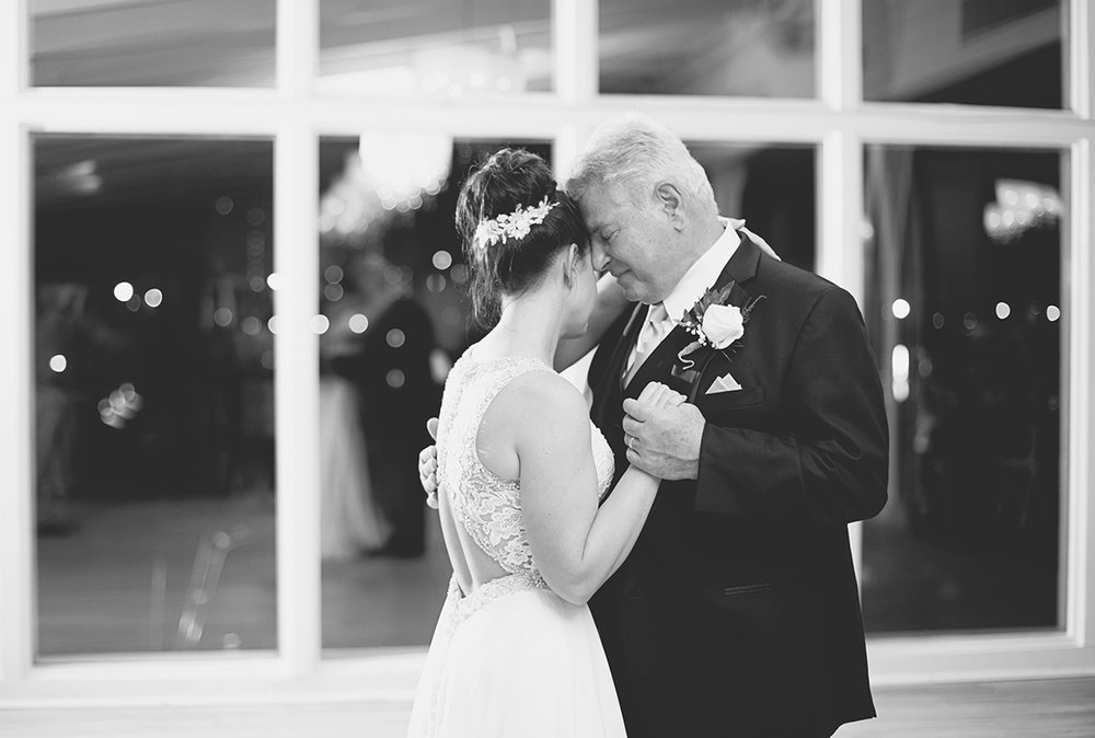 Blue and Silver Waterside Wedding | Virginia Beach Wedding | Father daughter dance