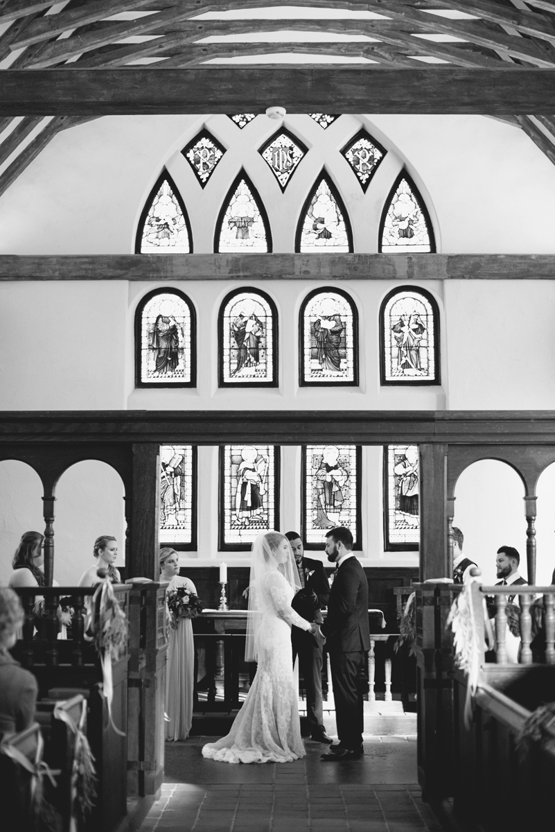 Classic Crimson and Champagne Fall Wedding | Virginia Wedding | Traditional church wedding ceremony