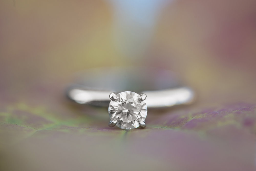 Fall Leaf Engagement Ring Shot