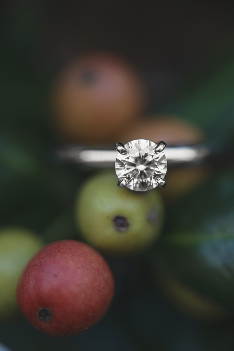 Fall Themed Berry Engagement Ring Shot