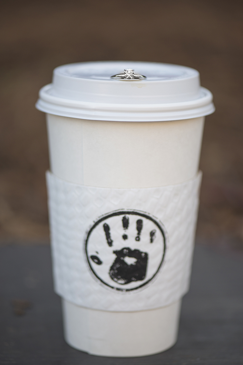 Coffee Cup Engagement Ring Shot