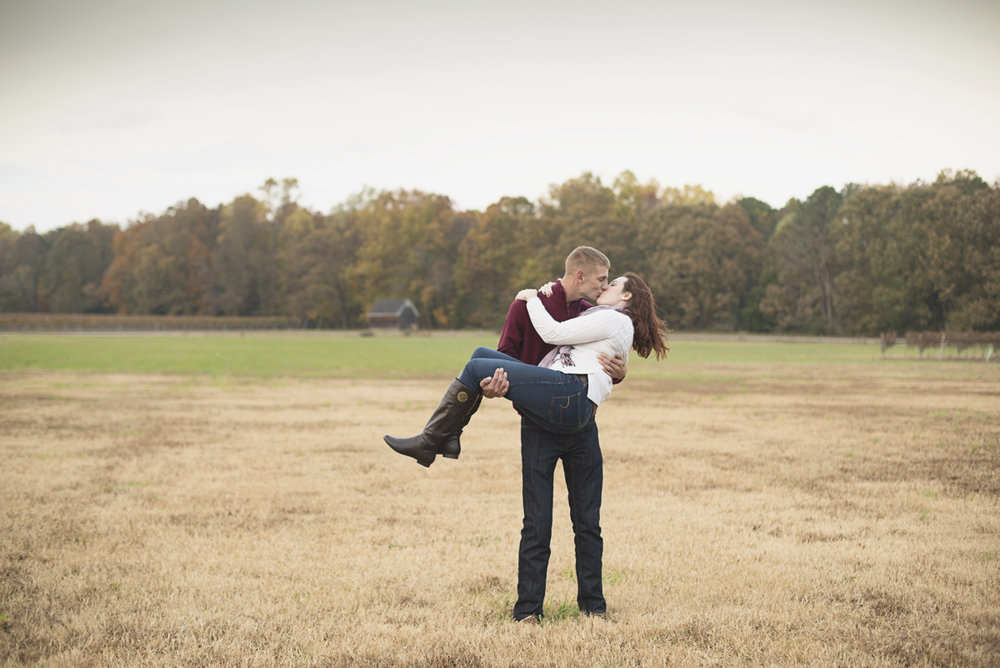 Burgundy Fall Winery Engagement Session in Virginia