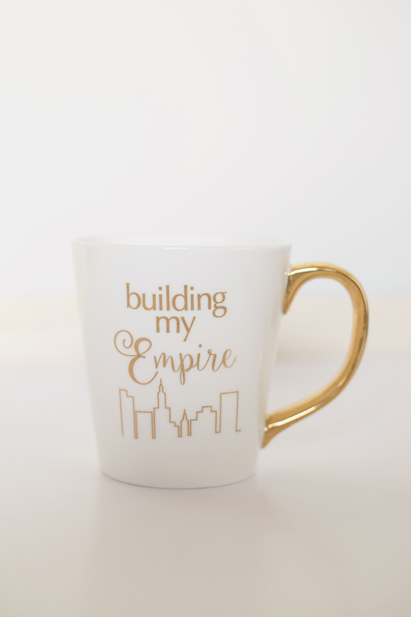 Building My Empire Gold Mug
