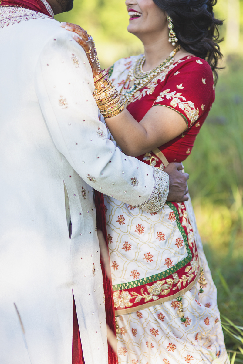 Washington, DC, Indian Wedding with Red and Gold details