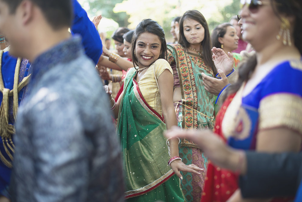 Washington, DC, Indian Wedding with Red and Gold details | Baraat ceremony