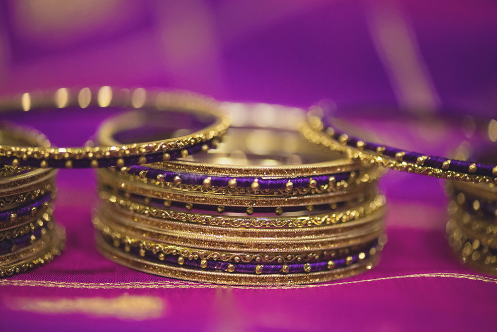 Royal Purple and Gold Indian Wedding | Washington, DC | Indian Wedding Bangles