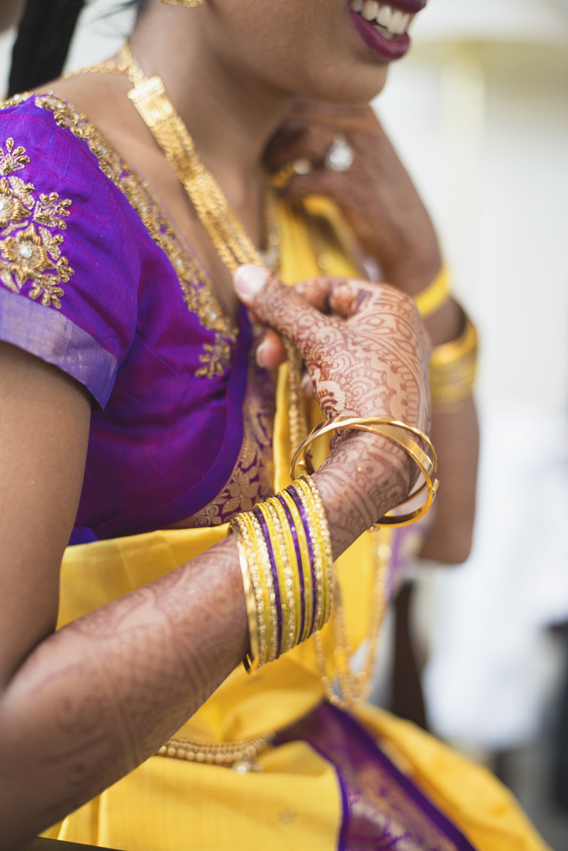 Royal Purple and Gold Indian Wedding | Washington, DC | Gowri puja