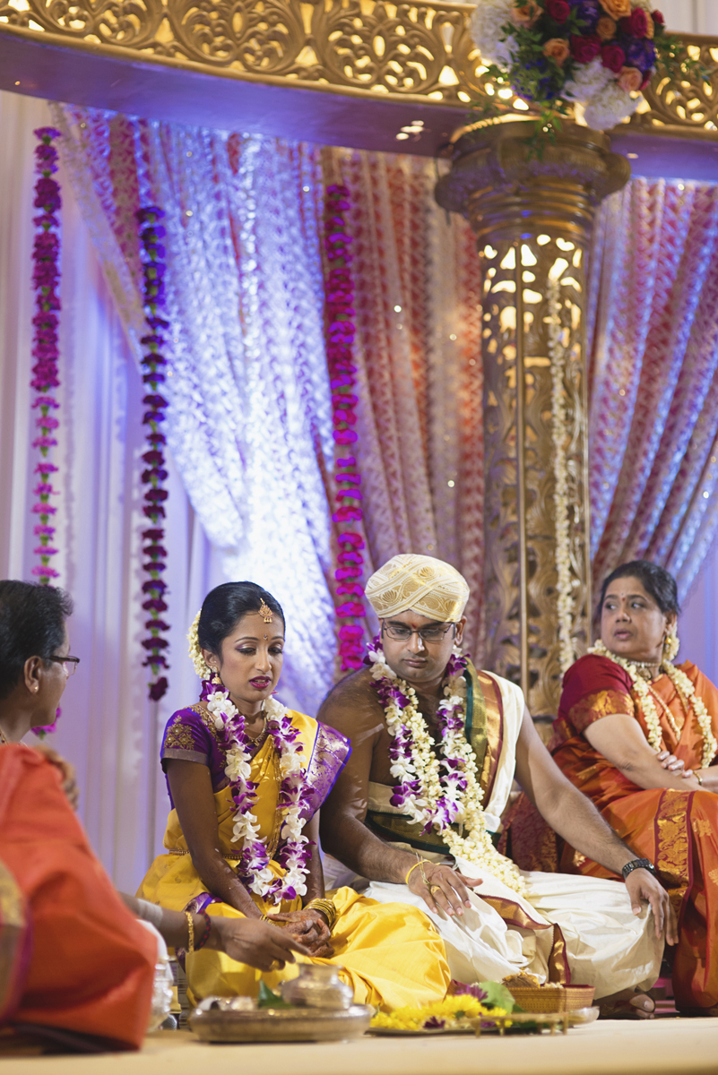 Royal Purple and Gold Indian Wedding | Washington, DC | Traditional Hindu wedding ceremony