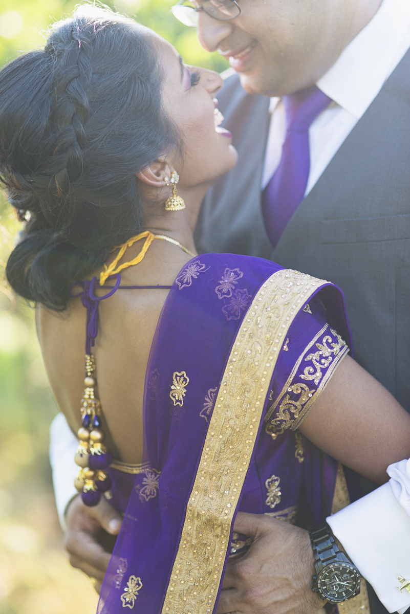 Royal Purple and Gold Indian Wedding | Washington, DC | Bride and groom portraits