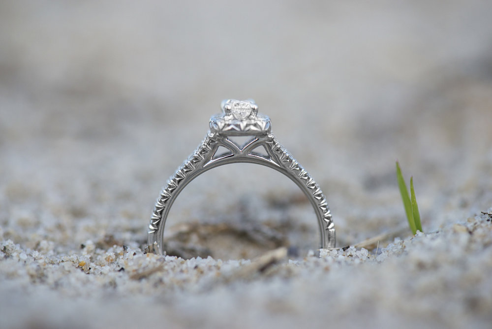 Beach Engagement Ring Shot