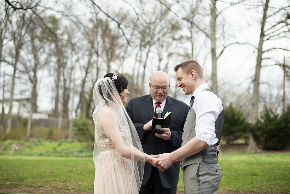 Blush and Gray Spring Wedding | Maryland Wedding | Outdoor wedding ceremony
