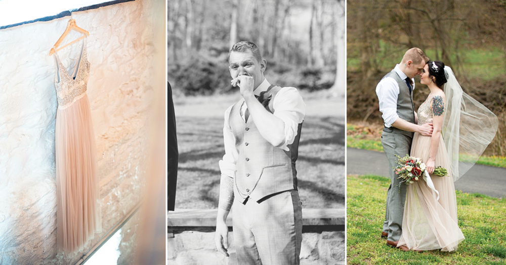 Blush and Gray Spring Wedding | Maryland Wedding