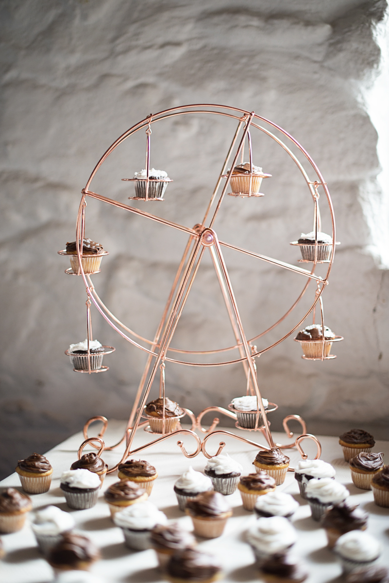 Cupcake ferris wheel wedding dessert