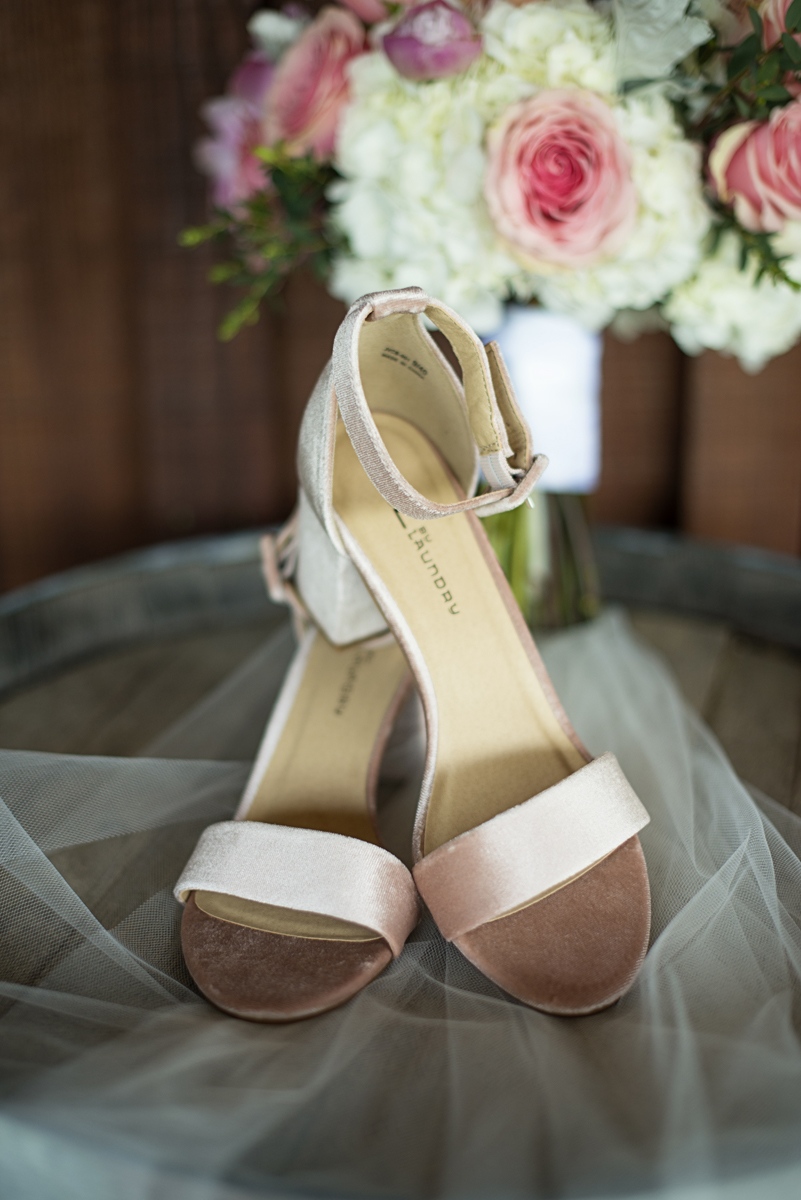 Elegant Summer Winery Elopement | Blush Wedding Shoes