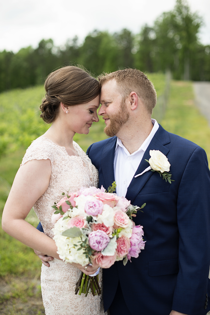 Elegant Summer Winery Elopement | Bride + Groom Portraits