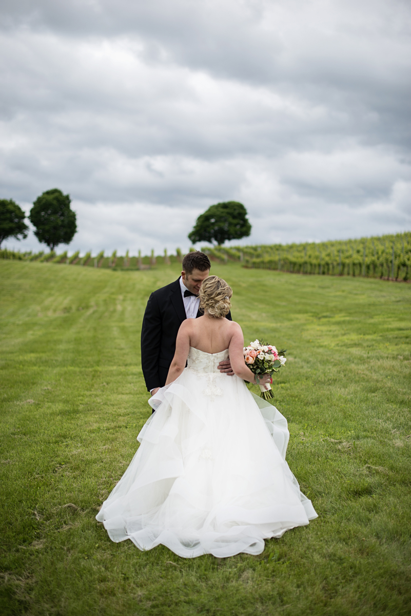 Albemarle Estate at Trump Winery Wedding | Bride and Groom Vineyard Portraits