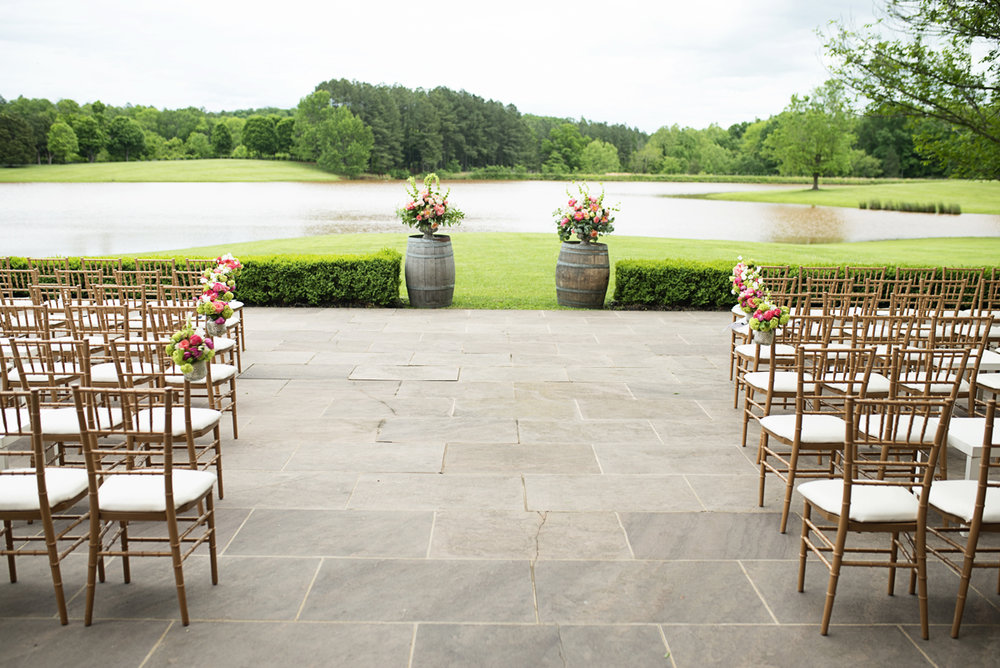 Albemarle Estate at Trump Winery Wedding | Gold Chiavari Wedding Ceremony Chairs