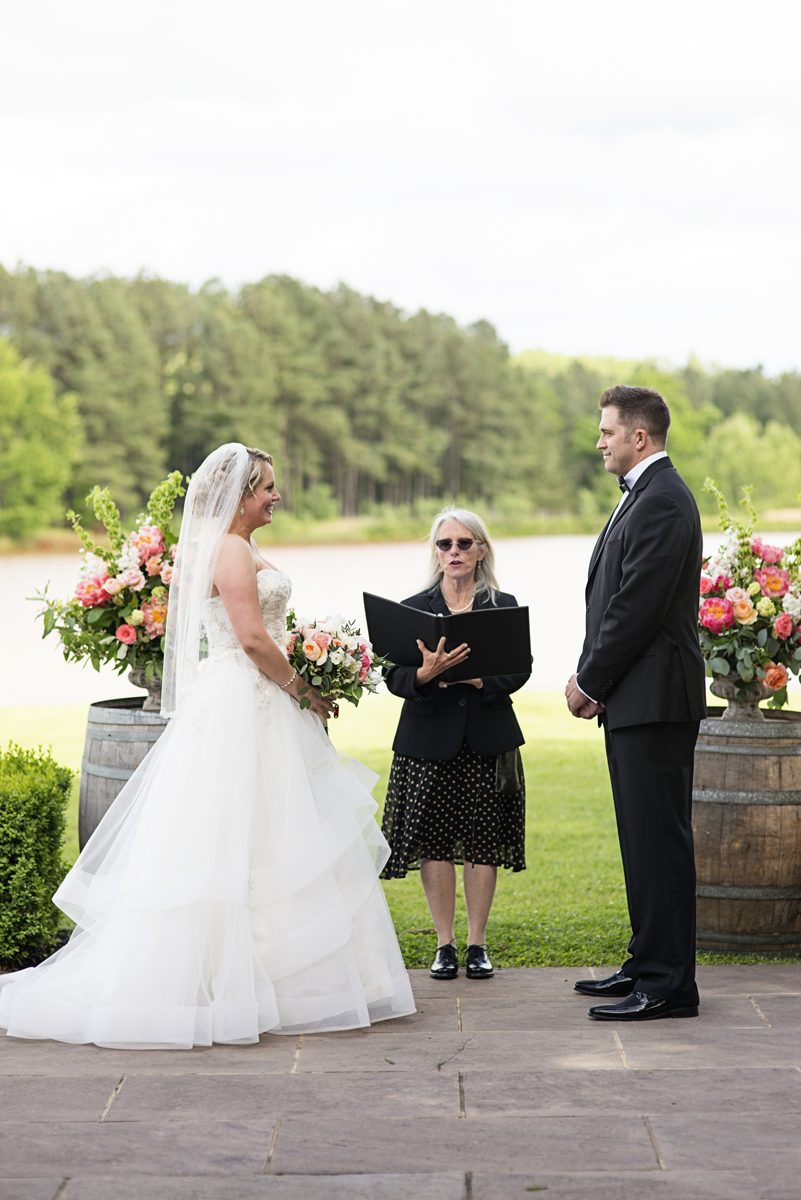 Albemarle Estate at Trump Winery Wedding | Outdoor wedding ceremony by the water