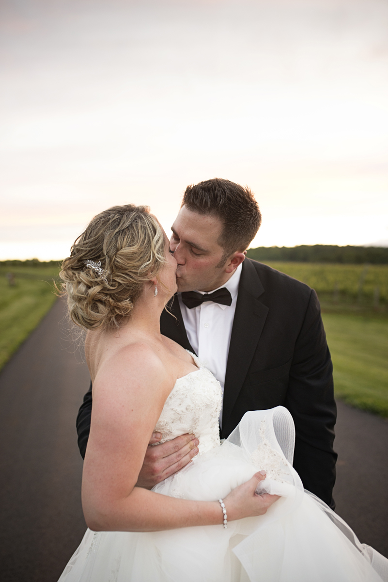 Albemarle Estate at Trump Winery Wedding | Bride and Groom Sunset Portraits