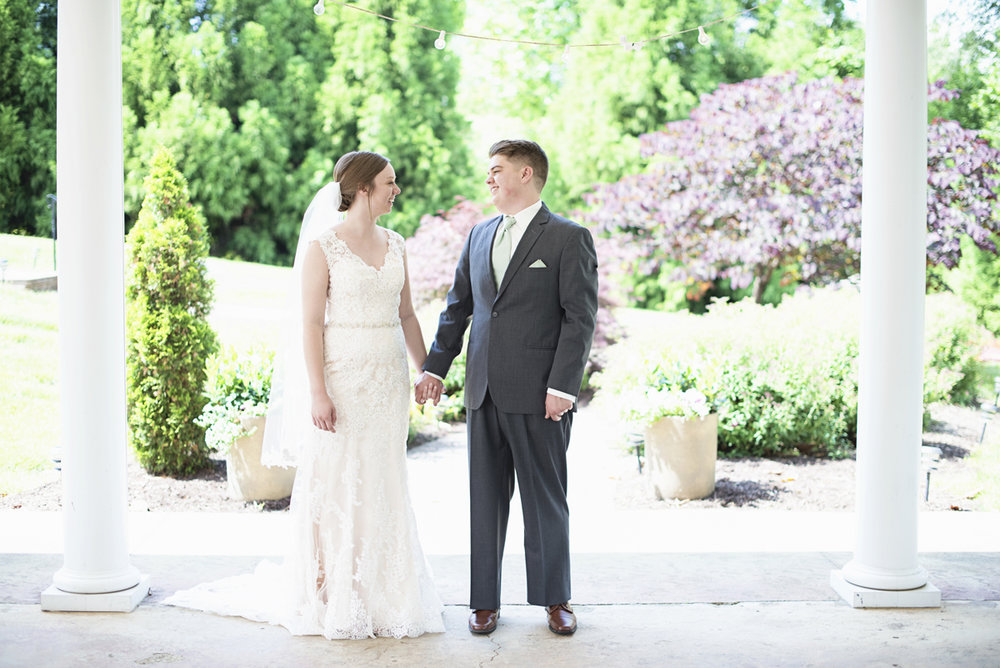 Plantation on Sunnybrook Roanoke Wedding | Bride + Groom First Look Portraits