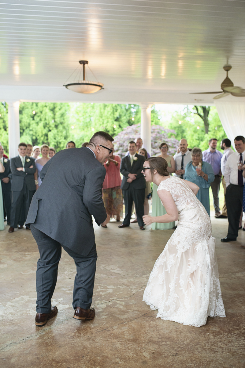 Plantation on Sunnybrook Roanoke Wedding | Father Daughter Goofy First Dance