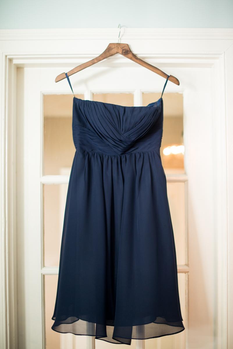 Navy Blue and Gray Summer Wedding in Virginia | Navy blue bridesmaid dress