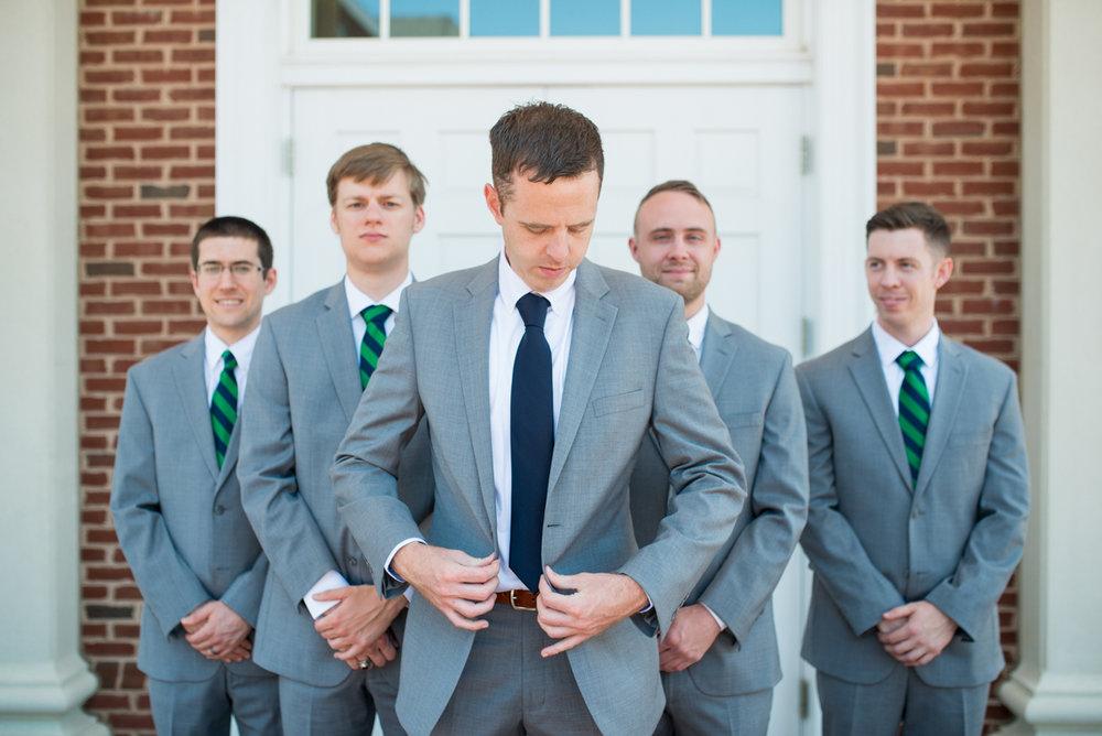 Navy Blue and Gray Summer Wedding in Virginia | Groomsmen portraits