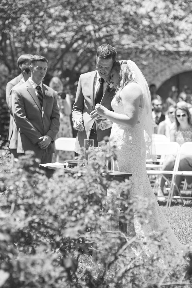 Navy Blue and Gray Summer Wedding in Virginia | Wedding ceremony