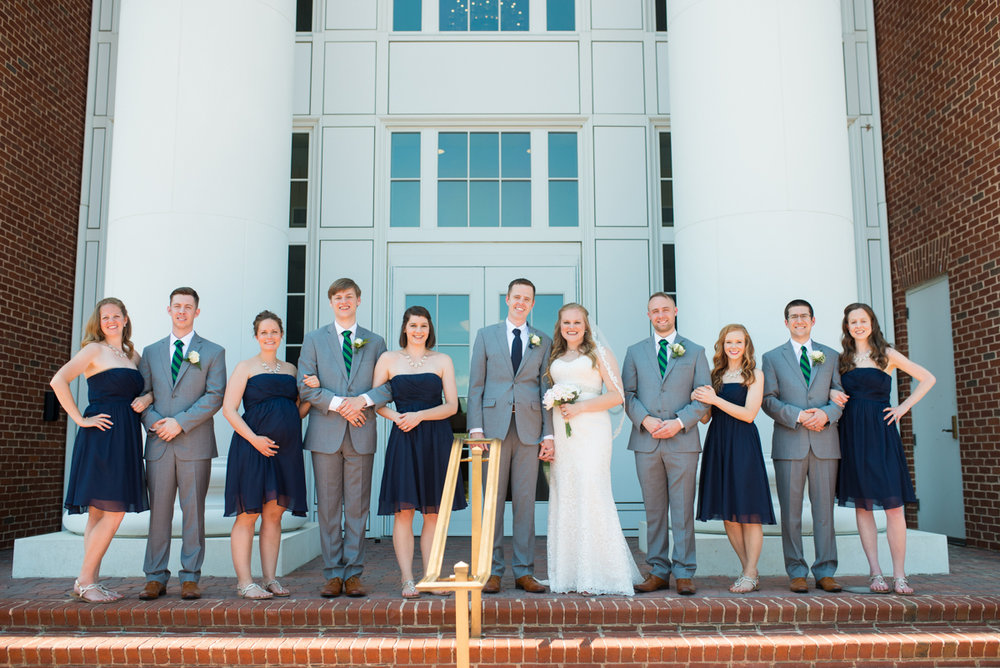 Navy Blue and Gray Summer Wedding in Virginia | Navy blue and gray bridal party