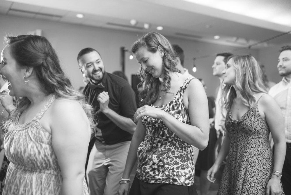 Navy Blue and Gray Summer Wedding in Virginia | Wedding reception dancing