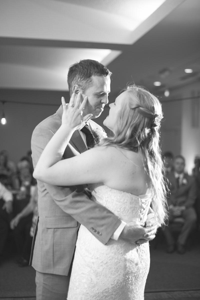 Navy Blue and Gray Summer Wedding in Virginia | Bride and groom first dance