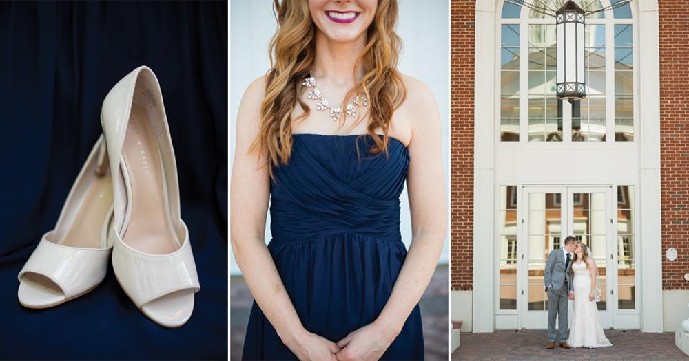 Navy Blue and Gray Summer Wedding in Virginia | Bride + Groom Portraits