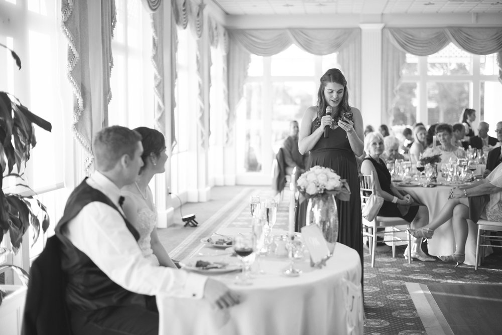 Emerald Green Classic Country Club Wedding | Maid of Honor Speech