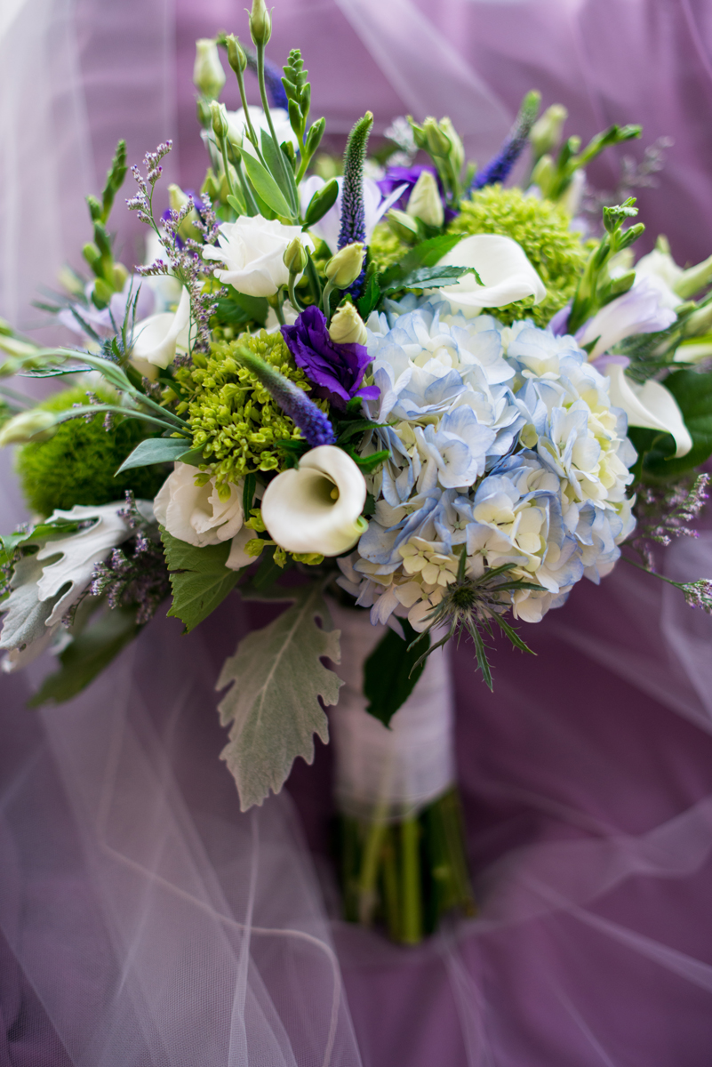 Lavender and Green Country Club Wedding | Purple, Green, and White Wedding Bouquet