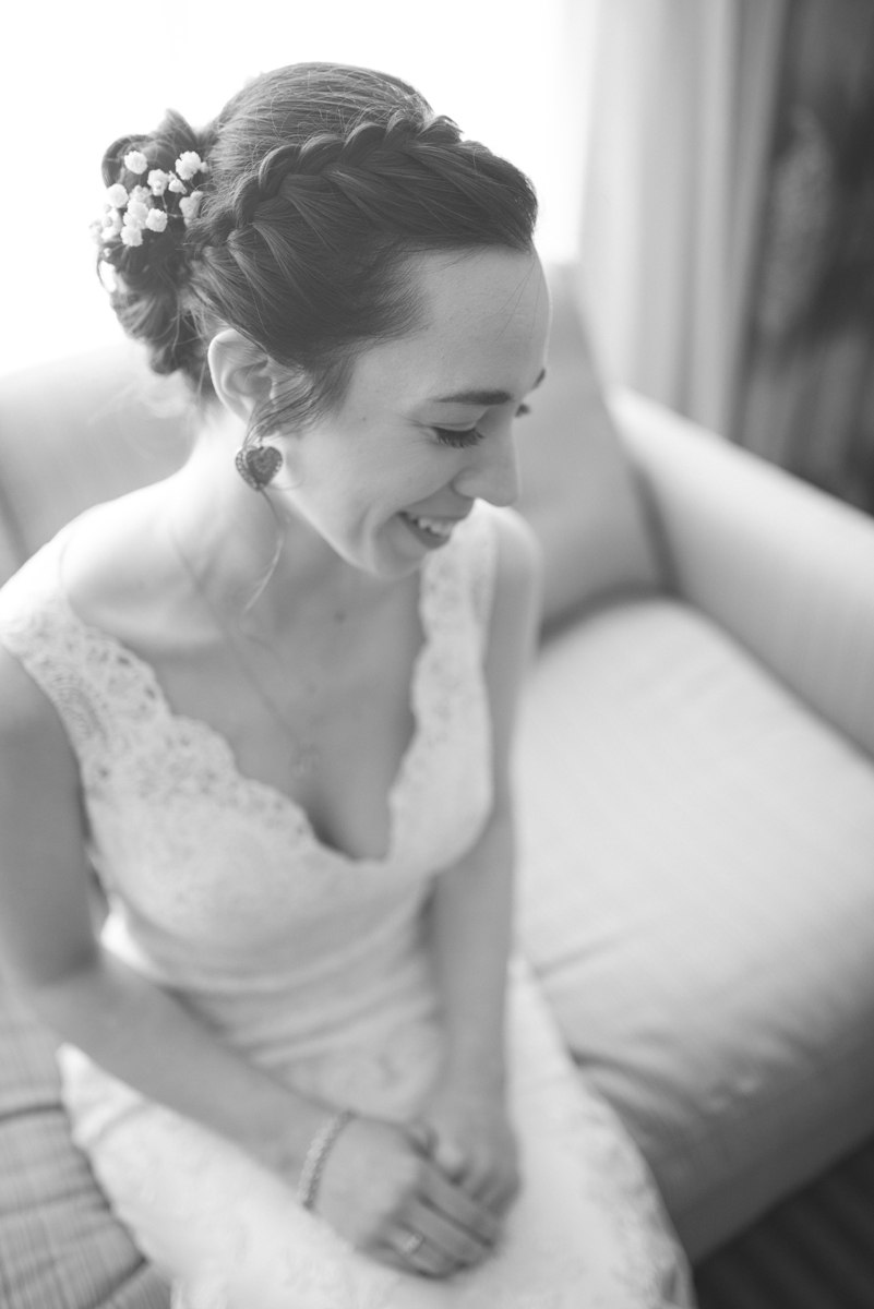 Lavender and Green Country Club Wedding | Bridal Portrait