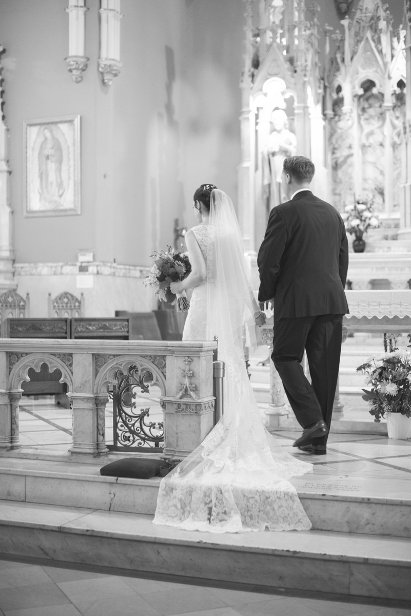 Lavender and Green Country Club Wedding | Traditional Catholic Nuptial Mass