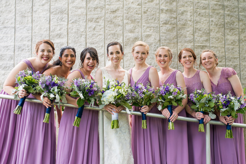 Lavender and Green Country Club Wedding | Bridal Party Portraits