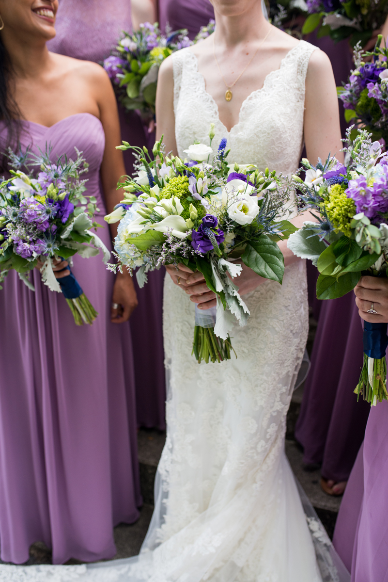 Lavender and Green Country Club Wedding | Lavender, Green, and White Wedding Bouquets