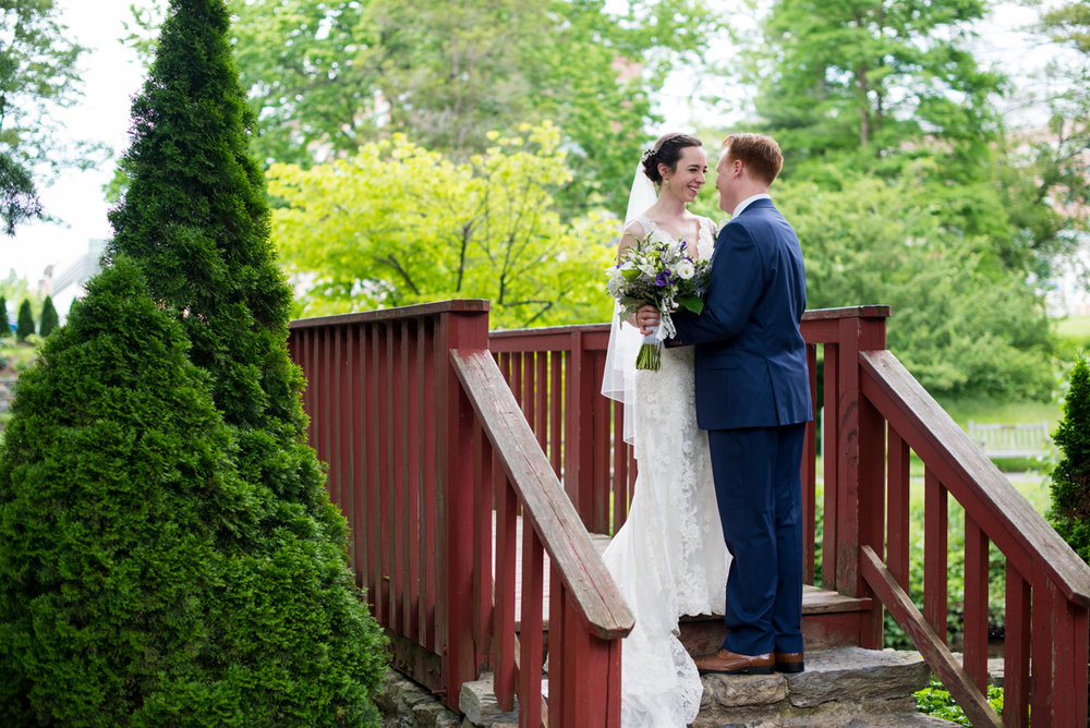 Lavender and Green Country Club Wedding | Bride and Groom Portrait