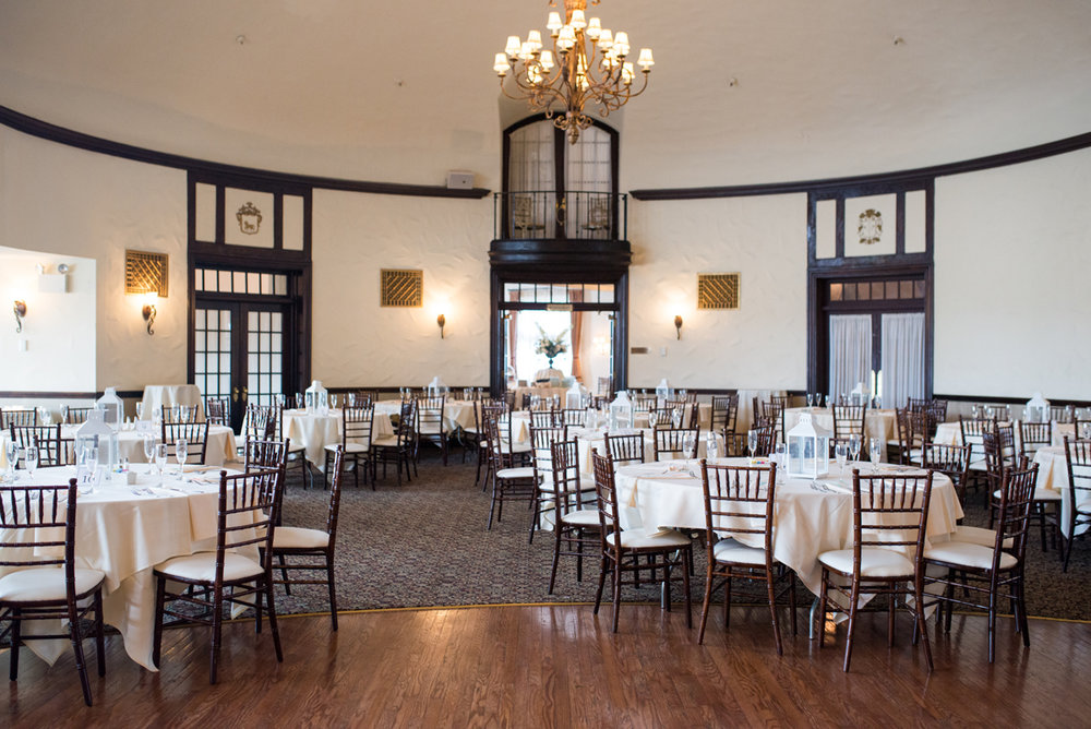 Lavender and Green Country Club Wedding | Country Club Wedding Reception