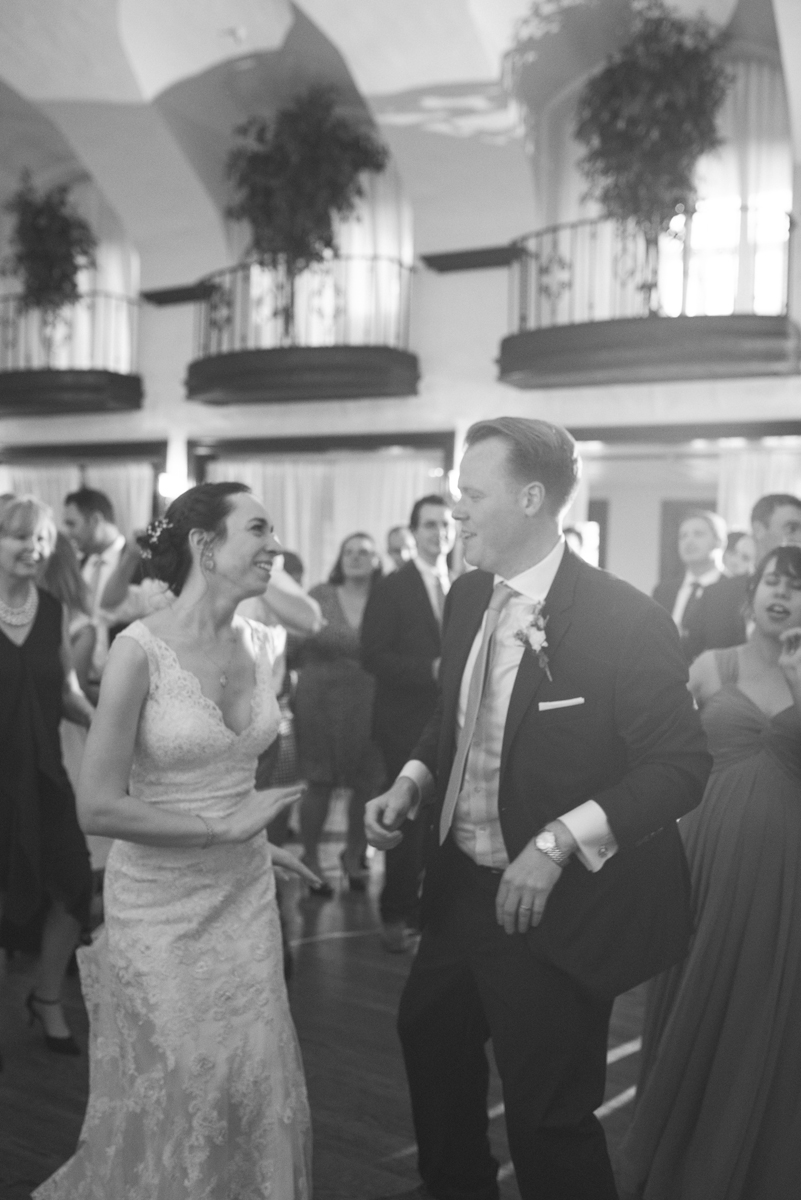 Lavender and Green Country Club Wedding | Wedding Reception Dancing