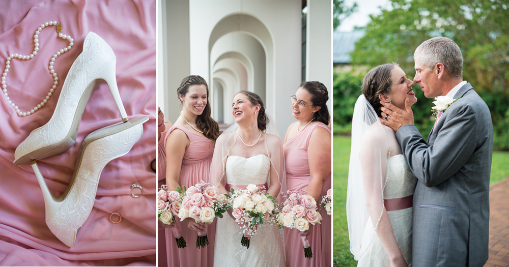 Blush and White Summer Virginia Wedding