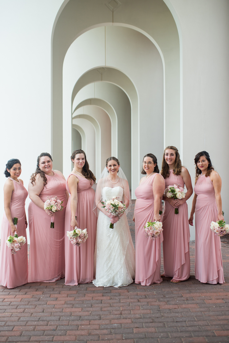Blush and White Summer Virginia Wedding | Blush Bridesmaid Portraits