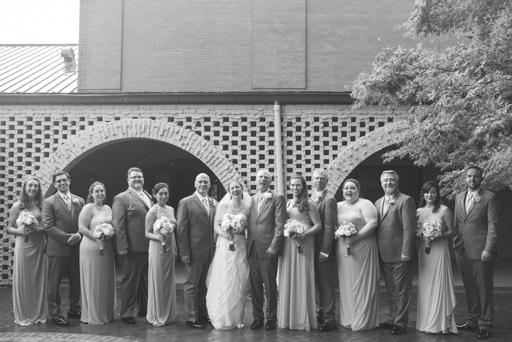 Blush and White Summer Virginia Wedding | Bridal Party Portraits