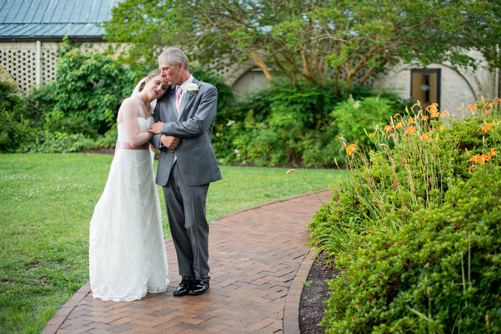 Blush and White Summer Virginia Wedding | Bride and Groom Portraits