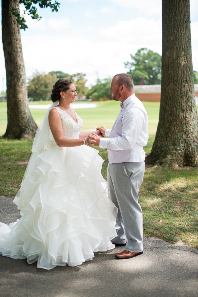 Lavender and Pale Green Virginia Beach Wedding | Bride and Groom Portraits