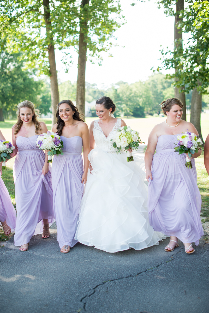 Lavender and Pale Green Virginia Beach Wedding | Lavender and Green Bridal Party Portraits